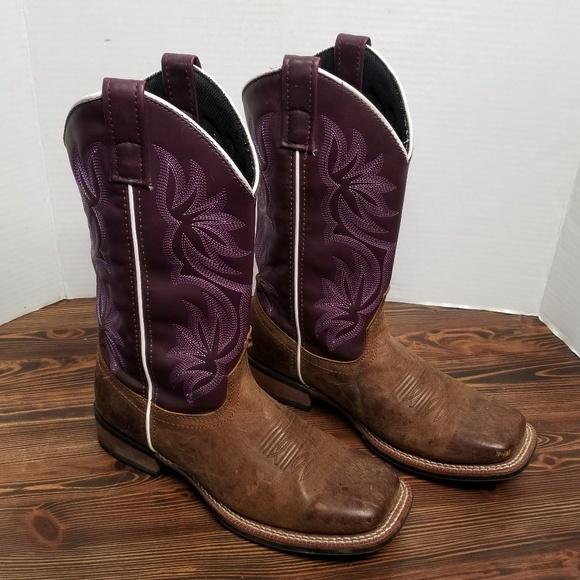 dc05232fc80 Laredo Women's Vintage Tan Purple Western Boots